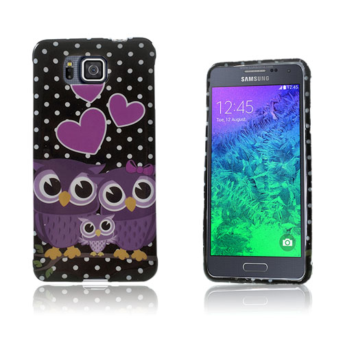 Westergaard Samsung Galaxy Alpha Skal – Tre Lila Ugglor