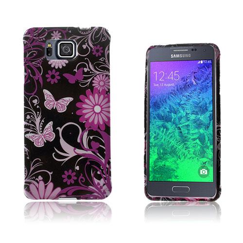 Westergaard Samsung Galaxy Alpha Skal – Fjäril och Blommor