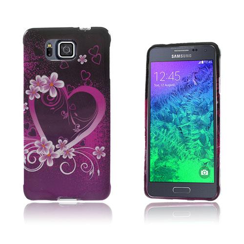 Westergaard Samsung Galaxy Alpha Skal – Hjärta och Blommor
