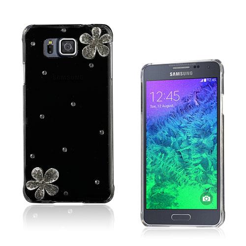 Shine Samsung Galaxy Alpha Skal – Kristall Blomma