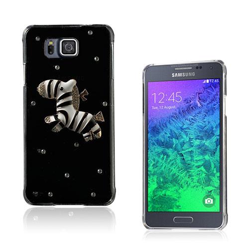 Shine Samsung Galaxy Alpha Skal – Crystal Zebra