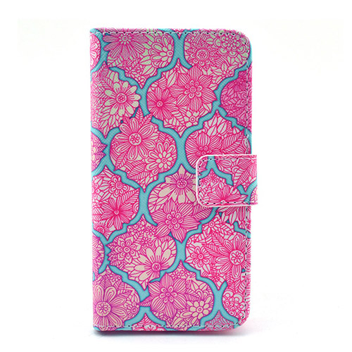 Moberg Samsung Galaxy Alpha Flip Fodral – Blommig Shock Rosa Blommor