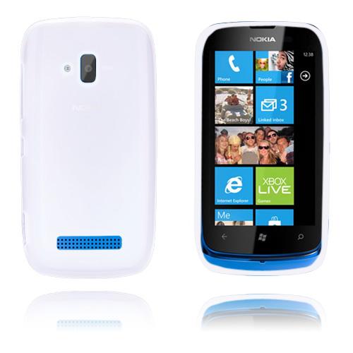 GelCase (Vit) Nokia Lumia 610 Skal