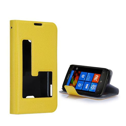 Betha (Gul) Nokia Lumia 510 Läderfodral