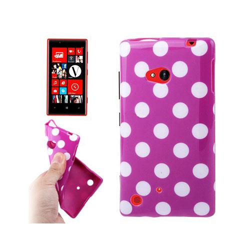 Image of   Polka Dots (Lila) Nokia Lumia 720 Skal