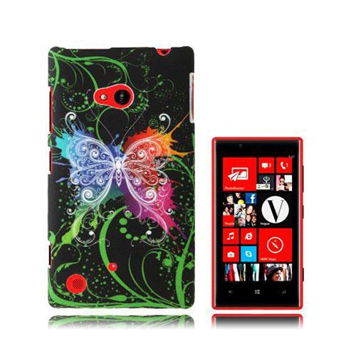 Valentine (Färgglad Fjäril) Nokia Lumia 720 Skal