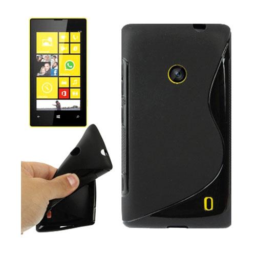 S-Line (Svart) Nokia Lumia 520 / 525 Skal
