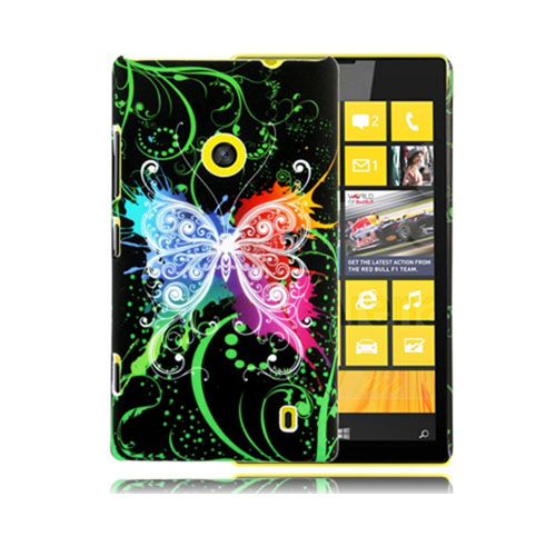 Valentine (Svart Fjäril) Nokia Lumia 520 / 525 Skal