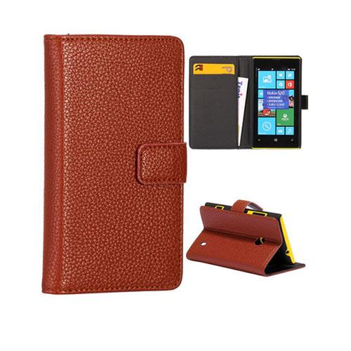 Wall Street (Brun) Nokia Lumia 520 / 525 Läderfodral