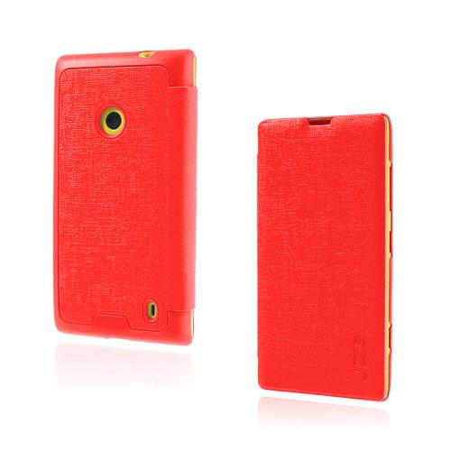 Lincoln (Röd) Nokia Lumia 520 / 525 Läderfodral