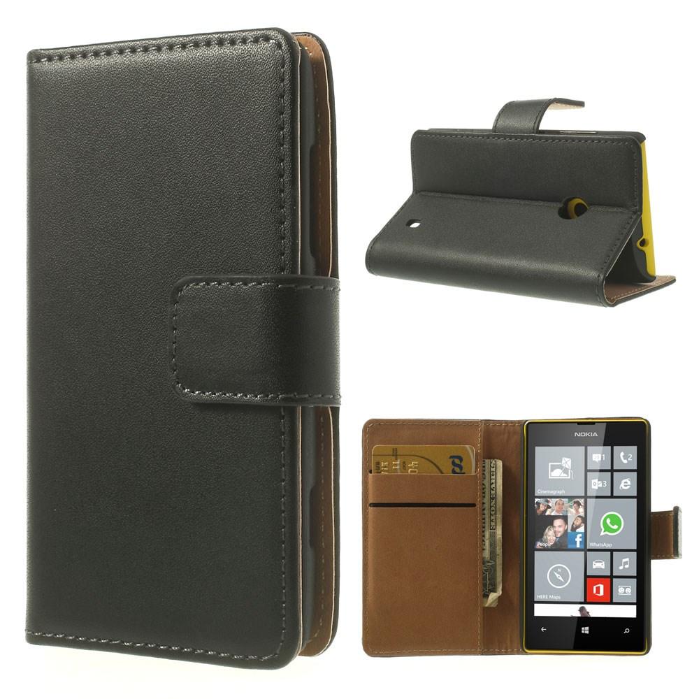 Ambassador (Svart) Nokia Lumia 520/525 Genuint Läderfodral