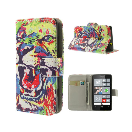 Circus (Färgglad Tiger) Nokia Lumia 520/525 Flip-Fodral