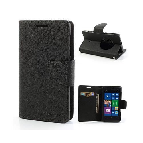 Mercury Nokia Lumia 1020 Läder Fodral med Korthållare – Svart