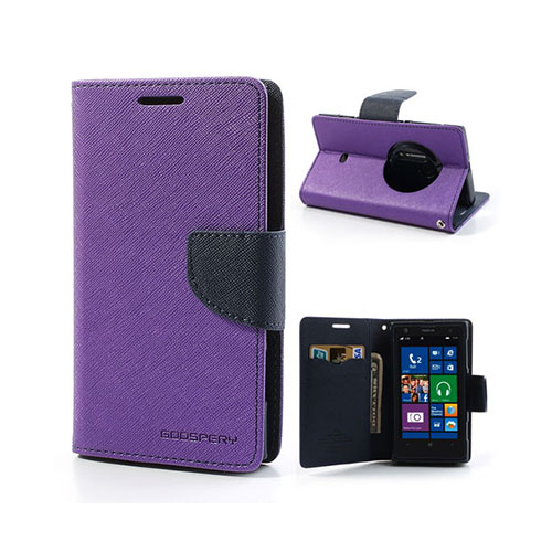 Mercury Nokia Lumia 1020 Fodral med Plånbok – Lila / Mörk Blå