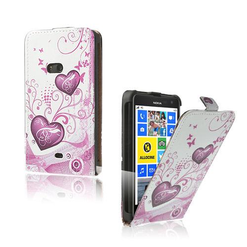 Festival (Rosa Hjärtan) Nokia Lumia 625 Läderfodral