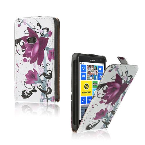 Festival (Lila Blommor) Nokia Lumia 625 Läderfodral