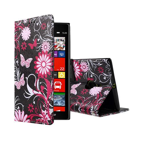 Moberg Nokia Lumia 1520 Fodral – Floral Fjärilar