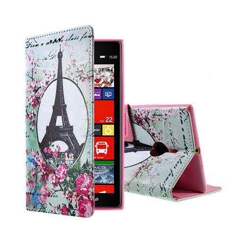 Moberg Nokia Lumia 1520 Fodral – Eiffeltornet & Blommor