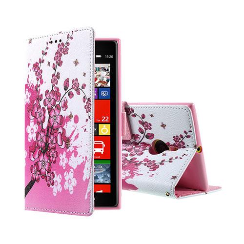 Moberg Nokia Lumia 1520 Fodral – Rosa Blommor