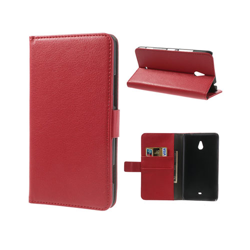 Wall Street (Röd) Nokia Lumia 1320 Läderfodral