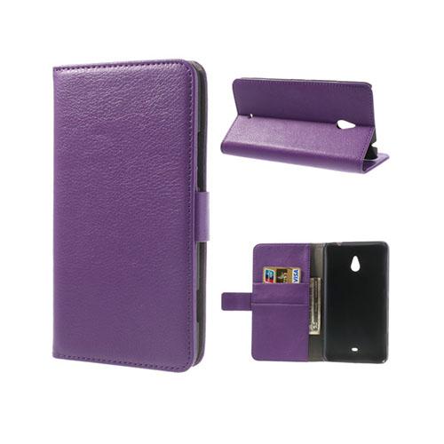 Wall Street (Lila) Nokia Lumia 1320 Läderfodral