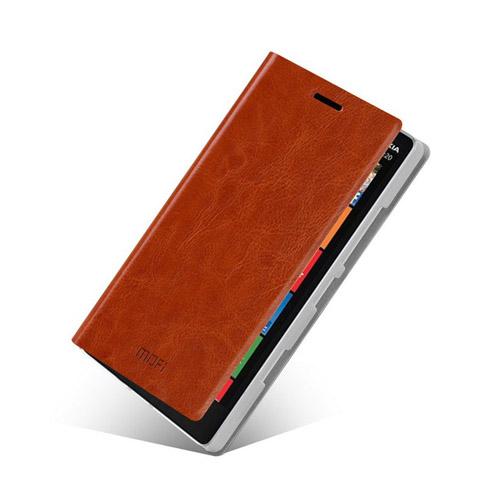 MOFI (Brun) Nokia Lumia 929 Läder Flip Fodral