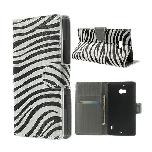 Moberg Nokia Lumia 929/930 Fodral – Zebra Ränder
