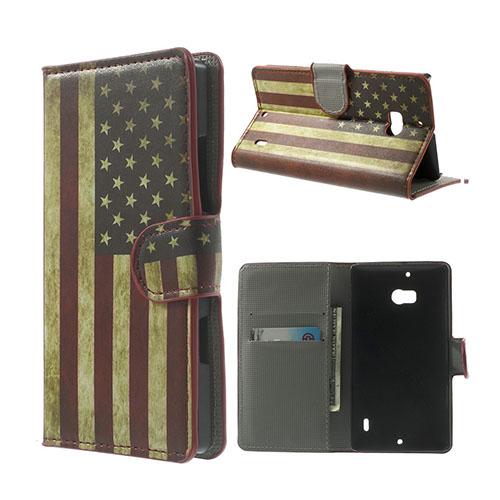 Moberg Nokia Lumia 929/930 Fodral – Vintage US Flagga