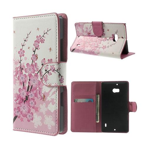Moberg Nokia Lumia 929/930 Fodral – Rosa Blommor