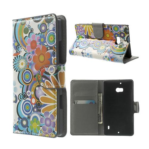 Moberg Nokia Lumia 929/930 Fodral – Färgrik Blommor
