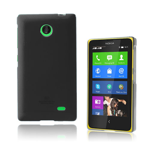 Glitter (Svart) Nokia X Skal
