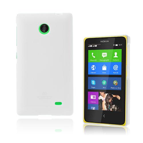 Glitter (Vit) Nokia X Skal