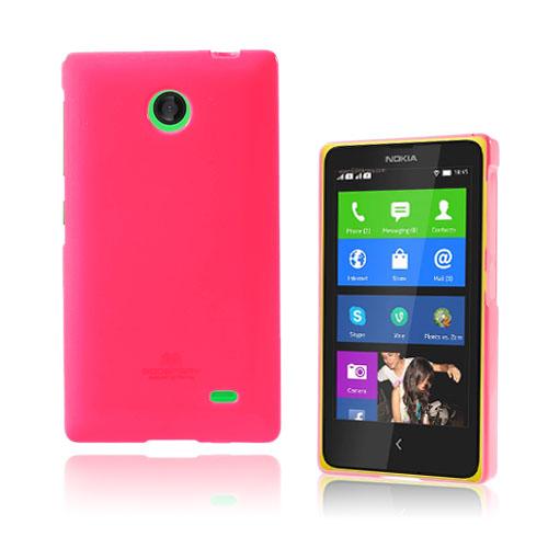 Glitter (Knallrosa) Nokia X Skal