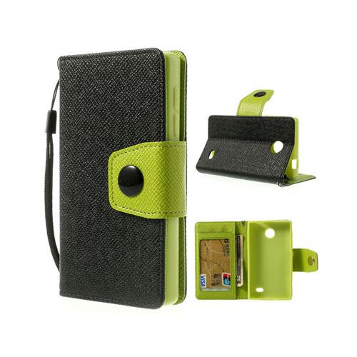 Gamma (Svart) Nokia X Läderfodral
