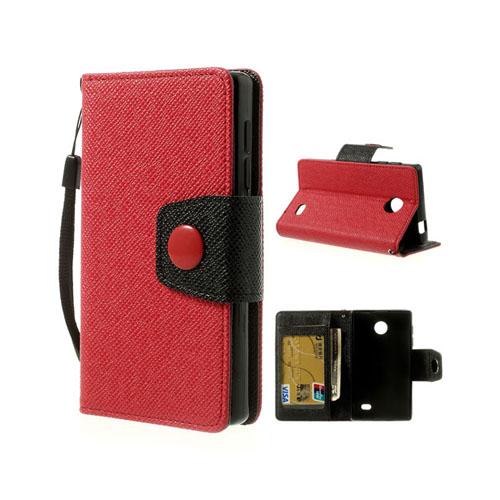 Gamma (Röd) Nokia X Läderfodral