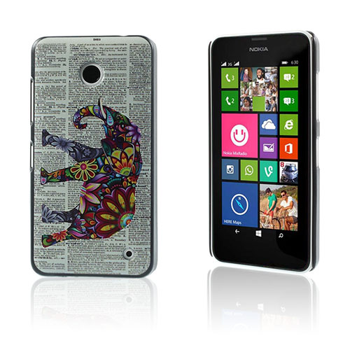 Persson Nokia Lumia 630/635 Skal – Blommaed Elefant & Tidning