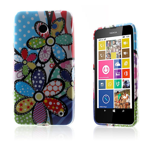 Westergaard Nokia Lumia 630 Skal – Tecknade Prästkrage Blommor