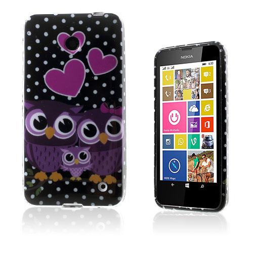Westergaard Nokia Lumia 630 Skal – Kärleks Hjärtan och Ugglor