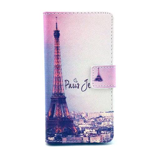 Moberg Nokia Lumia 630 Läderfodral med Plånbok – Eiffeltornet och Byggnad