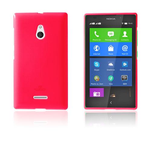 Glitter (Knallrosa) Nokia XL Skal