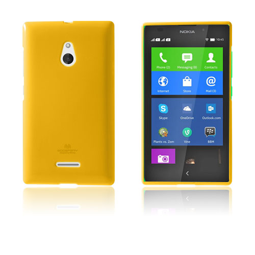 Glitter (Orange) Nokia XL Skal