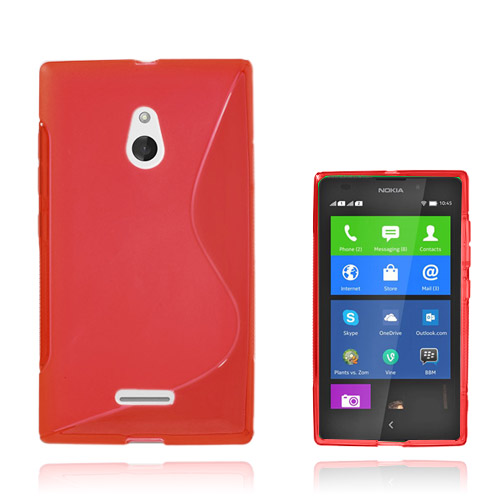S-Line (Röd) Nokia XL Skal