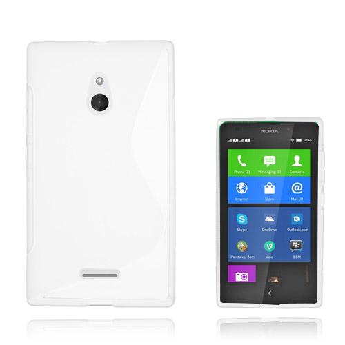 S-Line (Vit) Nokia XL Skal
