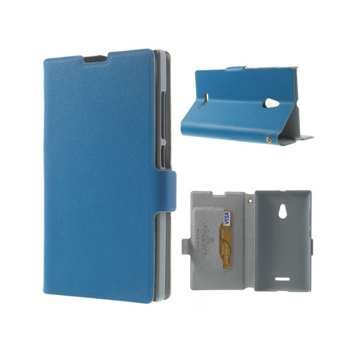 Ambassador (Blå) Nokia XL Genuint Läderfodral