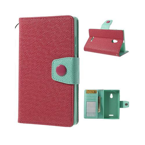 Brooklyn (Röd/Cyan) Nokia XL Flip-Fodral