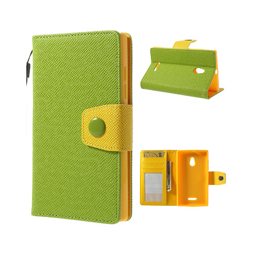 Brooklyn (Green) Nokia XL Flip-Fodral