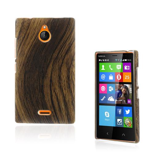 Nature (Trä Texture) Nokia X2 Läder Belagd Skal