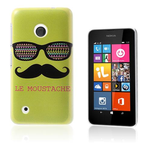 Persson (Glasögon & Mustasch – Grön) Nokia Lumia 530 Skal