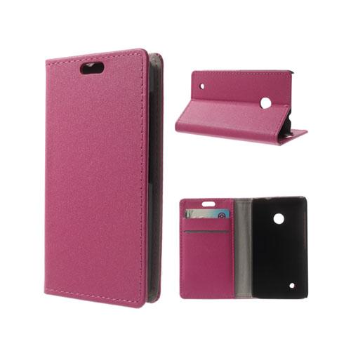 Heiberg (Het Rosa) Nokia Lumia 530 Läder Flip Fodral