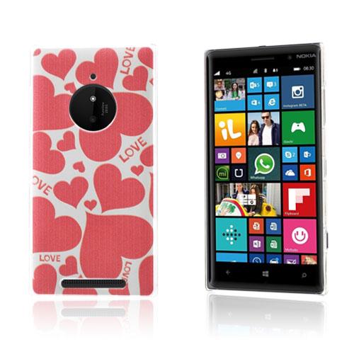 Persson Nokia Lumia 830 Hårt Skal – Hjärtan och Kärlek